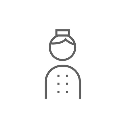 bellboy: Bellboy thick line icon with pointed corners and edges for web, mobile and infographics. Vector isolated icon.