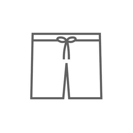 Swimming trunks thick line icon with pointed corners and edges for web, mobile and infographics. Vector isolated icon.