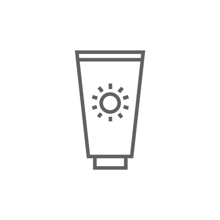 Sunscreen thick line icon with pointed corners and edges for web, mobile and infographics. Vector isolated icon.
