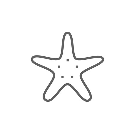 seafish: Starfish thick line icon with pointed corners and edges for web, mobile and infographics. Vector isolated icon. Illustration