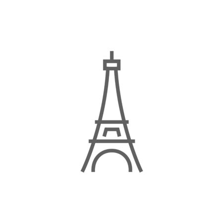 Eiffel Tower thick line icon with pointed corners and edges for web, mobile and infographics. Vector isolated icon.