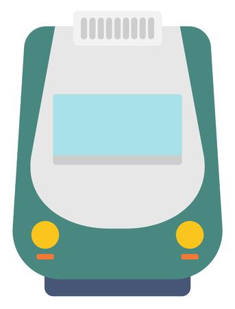 現代の高速鉄道ベクトル フラットなデザイン イラスト白い背景に分離します。