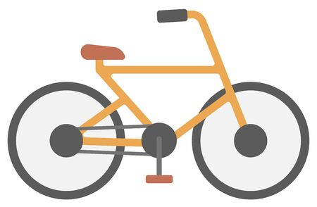new classic: New classic bicycle vector flat design illustration isolated on white background. Illustration