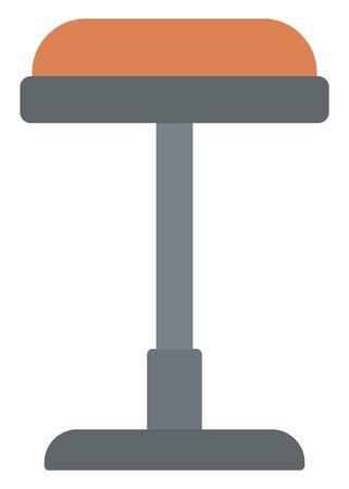 barstool: Brown bar stool vector flat design illustration isolated on white background.