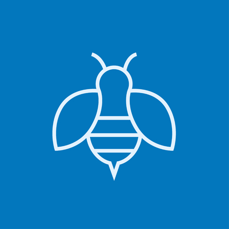 fructose: Bee thick line icon with pointed corners and edges for web, mobile and infographics. Vector isolated icon.