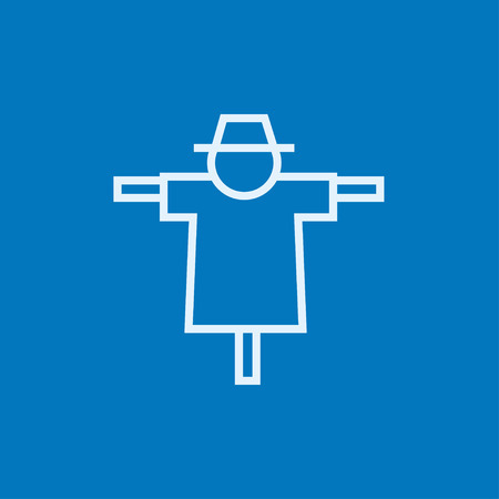 scarecrow: Scarecrow thick line icon with pointed corners and edges for web, mobile and infographics. Vector isolated icon.