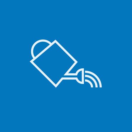 Gießkanne dicke Linie Symbol mit spitzen Ecken und Kanten für Web, Mobile und Infografiken. Vector isoliert Symbol. Standard-Bild - 54139216
