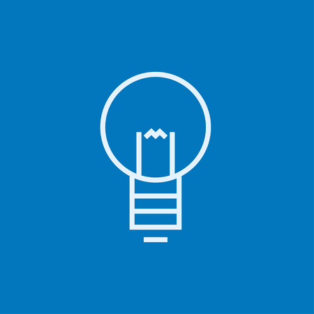 invent clever: Lightbulb thick line icon with pointed corners and edges for web, mobile and infographics. Vector isolated icon. Illustration