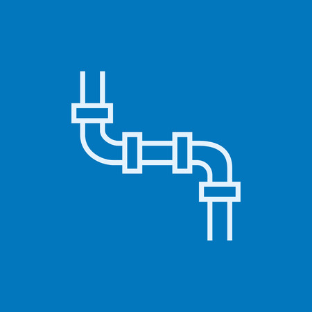 Water pipeline thick line icon with pointed corners and edges for web, mobile and infographics. Vector isolated icon. 일러스트