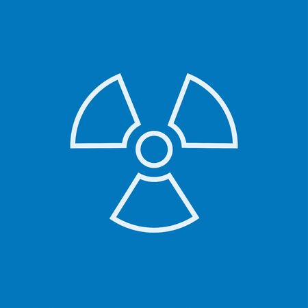 ionizing radiation risk: Ionizing radiation sign thick line icon with pointed corners and edges for web, mobile and infographics. Vector isolated icon.
