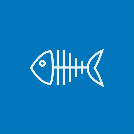 Fish skeleton thick line icon with pointed corners and edges for web, mobile and infographics. Vector isolated icon. Vektorové ilustrace