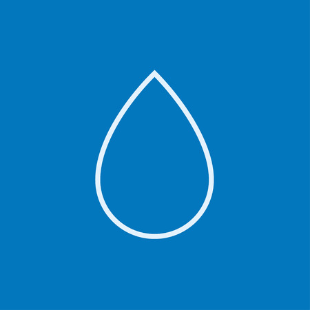 icon vector: Water drop thick line icon with pointed corners and edges for web, mobile and infographics. Vector isolated icon. Illustration