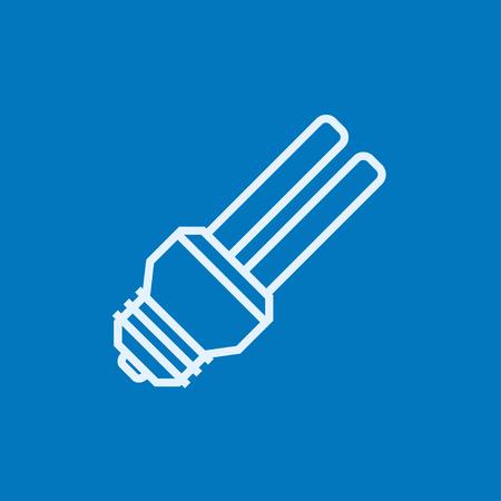 saver bulb: El ahorro de energ�a icono de l�nea gruesa bombilla con esquinas puntiagudas y bordes para web, m�vil y la infograf�a. aislado vector icono.