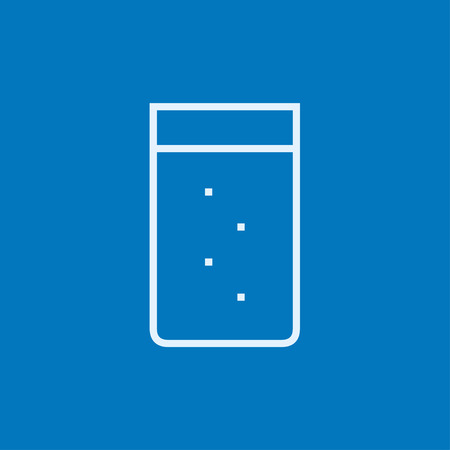 tumbler: Glass of water thick line icon with pointed corners and edges for web, mobile and infographics. Vector isolated icon. Illustration