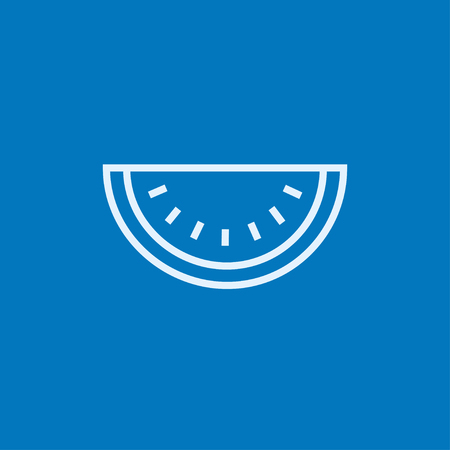 Watermelon thick line icon with pointed corners and edges for web, mobile and infographics. Vector isolated icon.