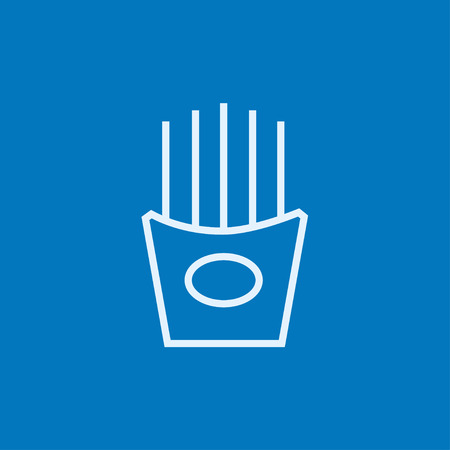 French fries thick line icon with pointed corners and edges for web, mobile and infographics. Vector isolated icon. Illustration