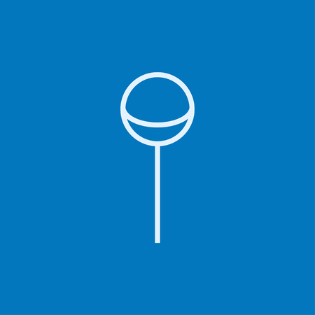 goody: Round lollipop thick line icon with pointed corners and edges for web, mobile and infographics. Vector isolated icon.