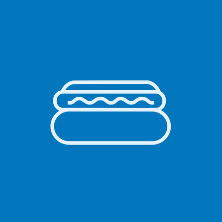 line: Hotdog thick line icon with pointed corners and edges for web, mobile and infographics. Vector isolated icon. Illustration