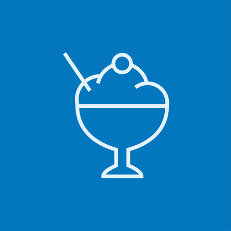 Ice cream in a cup thick line icon with pointed corners and edges for web, mobile and infographics. Vector isolated icon. Ilustração