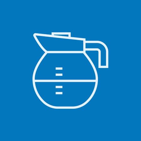 lijntekening: Karaf dikke lijn icoon met puntige hoeken en randen voor het web, mobiel en infographics. Vector geïsoleerde pictogram.