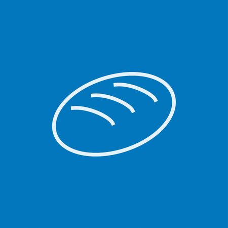 Loaf thick line icon with pointed corners and edges for web, mobile and infographics. Vector isolated icon.