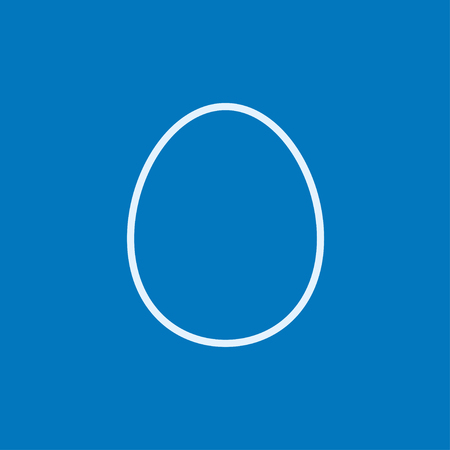 Egg thick line icon with pointed corners and edges for web, mobile and infographics. Vector isolated icon. 向量圖像