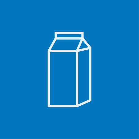 packaged: Packaged dairy product thick line icon with pointed corners and edges for web, mobile and infographics. Vector isolated icon.