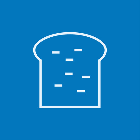 wholemeal: Single slice of bread thick line icon with pointed corners and edges for web, mobile and infographics. Vector isolated icon. Illustration