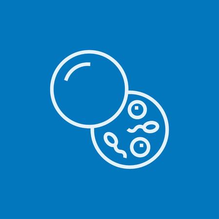 espermatozoides: Donante de esperma icono de línea gruesa con esquinas puntiagudas y bordes para web, móvil y la infografía. aislado vector icono.