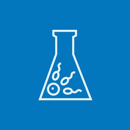 La fertilización in vitro icono de línea gruesa con esquinas puntiagudas y bordes para web, móvil y la infografía. aislado vector icono. Vectores