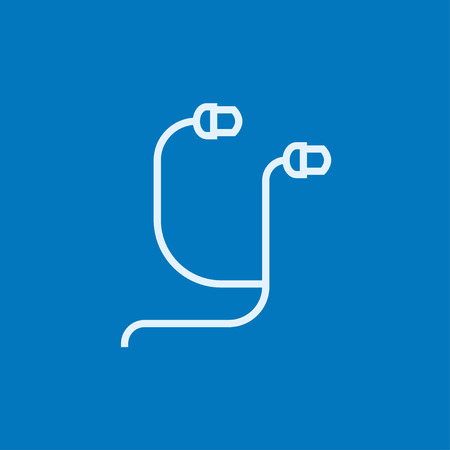 earphone: Earphone thick line icon with pointed corners and edges for web, mobile and infographics. Vector isolated icon. Illustration
