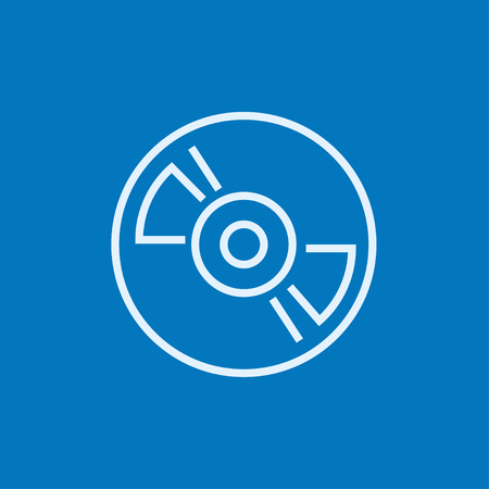 hi fi: Reel tape deck player recorder thick line icon with pointed corners and edges for web, mobile and infographics. Vector isolated icon.