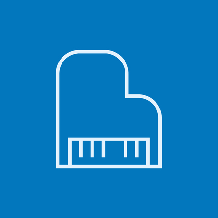 Piano thick line icon with pointed corners and edges for web, mobile and infographics. Vector isolated icon.