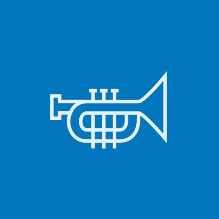 trumpet isolated: Trumpet thick line icon with pointed corners and edges for web, mobile and infographics. Vector isolated icon. Illustration