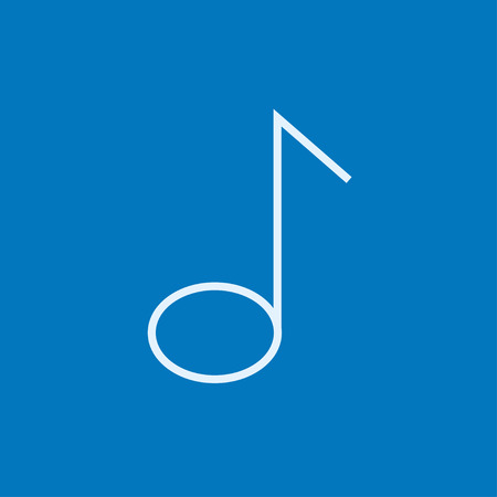 crotchets: Music note thick line icon with pointed corners and edges for web, mobile and infographics. Vector isolated icon.