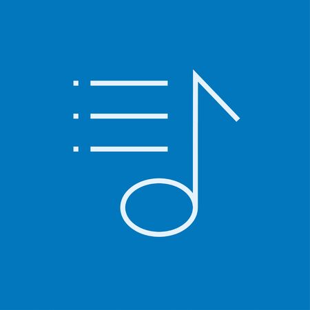 Musical note thick line icon with pointed corners and edges for web, mobile and infographics. Vector isolated icon. Ilustrace