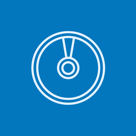Disc thick line icon with pointed corners and edges for web, mobile and infographics. Vector isolated icon.