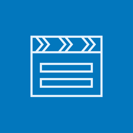 clapboard: Clapboard thick line icon with pointed corners and edges for web, mobile and infographics. Vector isolated icon.