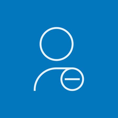 Perfil de usuario con signo menos icono de línea gruesa con esquinas puntiagudas y bordes para web, móvil y la infografía. aislado vector icono. Foto de archivo - 54172732