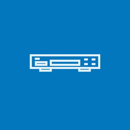 videocassette: Video recorder thick line icon with pointed corners and edges for web, mobile and infographics. Vector isolated icon. Illustration