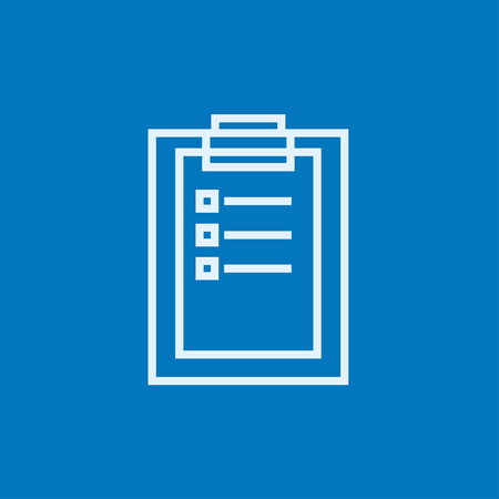 report icon: Medical report thick line icon with pointed corners and edges for web, mobile and infographics. Vector isolated icon. Illustration