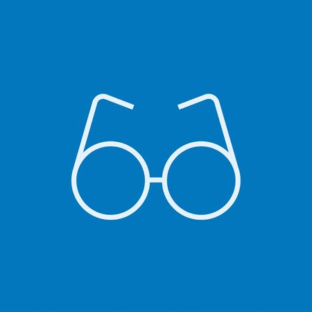 vision loss: Eyeglasses thick line icon with pointed corners and edges for web, mobile and infographics. Vector isolated icon. Illustration