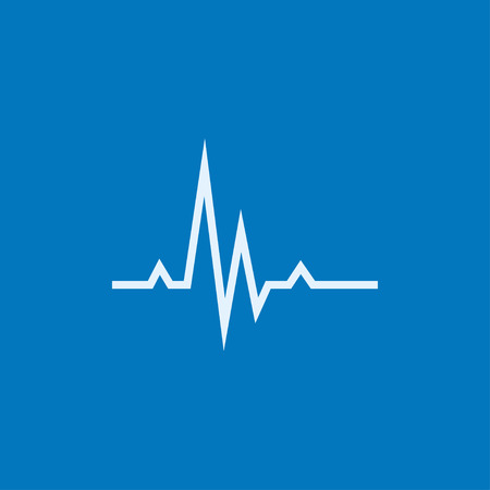 heart ecg trace: Hheart beat cardiogram thick line icon with pointed corners and edges for web, mobile and infographics. Vector isolated icon.