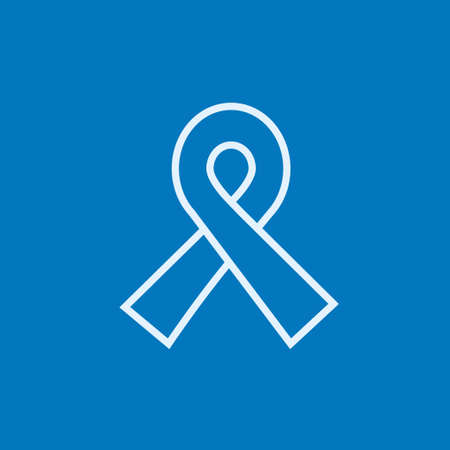 hiv awareness: Ribbon thick line icon with pointed corners and edges for web, mobile and infographics. Vector isolated icon.