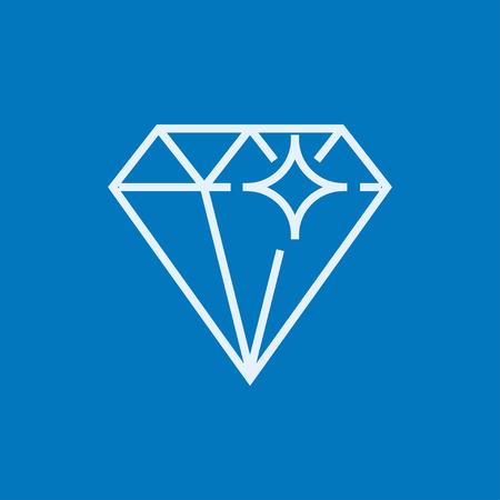 Diamant dicke Linie Symbol mit spitzen Ecken und Kanten für Web, Mobile und Infografiken. Vector isoliert Symbol. Standard-Bild - 54177251