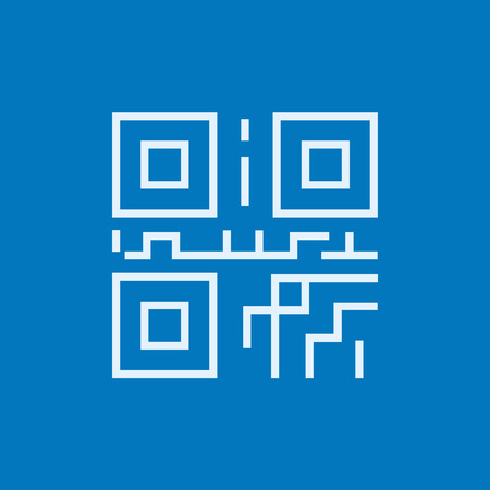 quick response code: QR code thick line icon with pointed corners and edges for web, mobile and infographics. Vector isolated icon. Illustration
