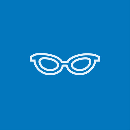 eyewear fashion: Eyeglasses thick line icon with pointed corners and edges for web, mobile and infographics. Vector isolated icon. Illustration