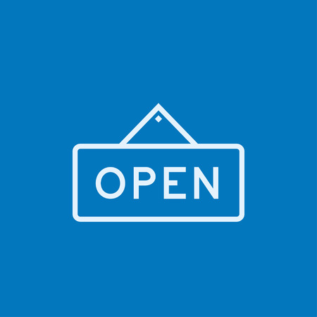 Open sign thick line icon with pointed corners and edges for web, mobile and infographics. Vector isolated icon.