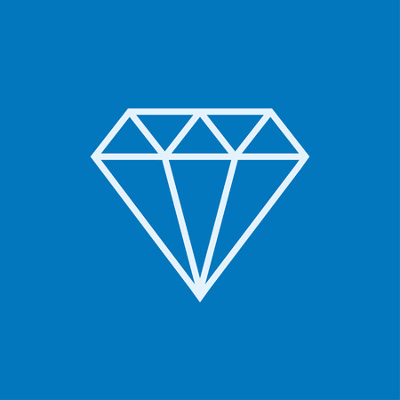 karat: Diamond thick line icon with pointed corners and edges for web, mobile and infographics. Vector isolated icon. Illustration