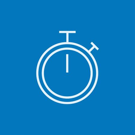 Stopwatch thick line icon with pointed corners and edges for web, mobile and infographics. Vector isolated icon.